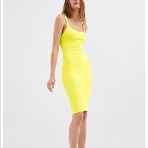 Zara dress small neon yellow